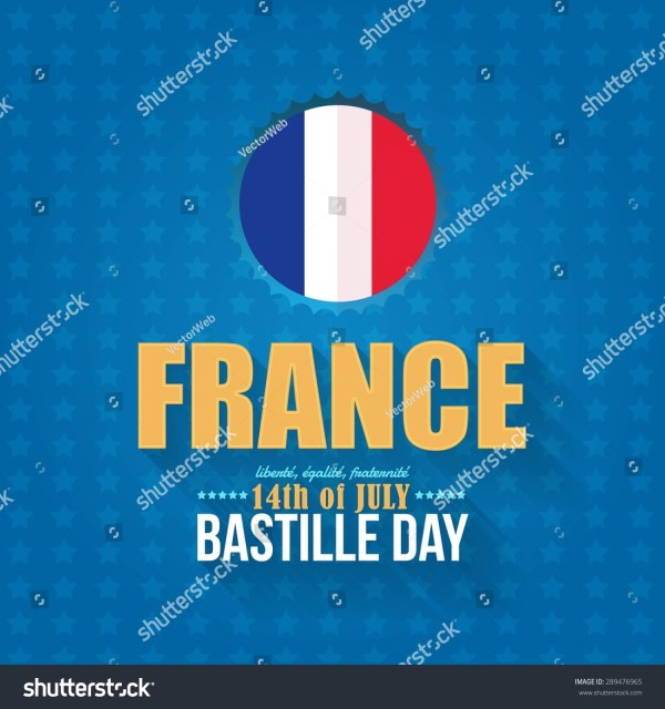 14th July Bastille Day Of France Announcement Celebration