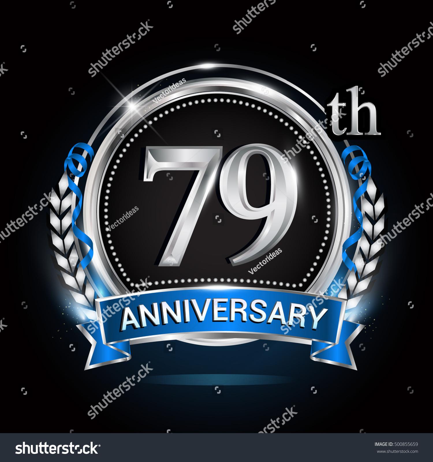 79th Silver Anniversary Logo Laurel Wreath Stock Vector 500855659 - Shutterstock