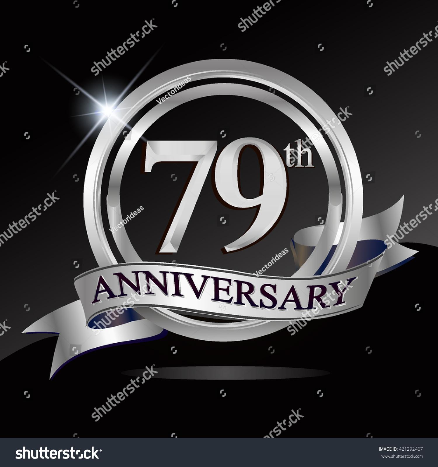 79th Silver Anniversary Logo Ring Ribbon Stock Vector 421292467 - Shutterstock