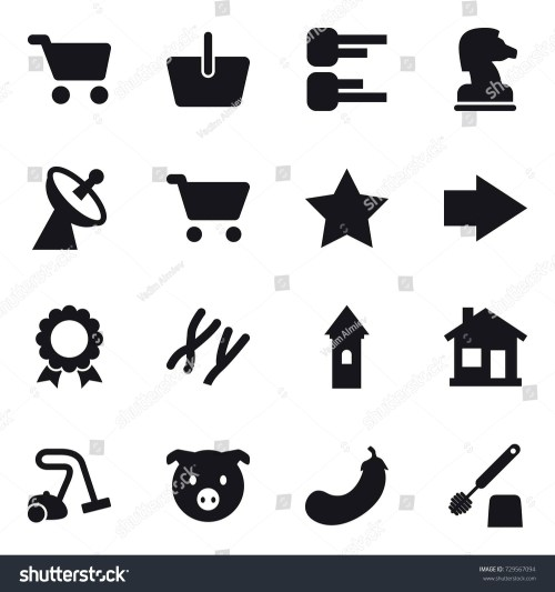small resolution of 16 vector icon set cart basket diagram chess horse satellite antenna
