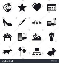 16 vector icon set circle diagram star heart calendar shoes  [ 1500 x 1600 Pixel ]