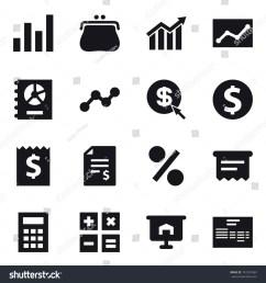 16 vector icon set graph purse diagram statistic annual report  [ 1500 x 1600 Pixel ]