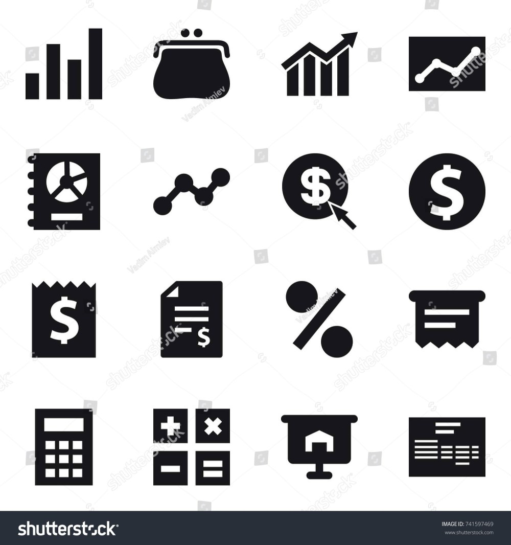 medium resolution of 16 vector icon set graph purse diagram statistic annual report