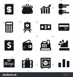 16 vector icon set receipt purse diagram calculator presentation money [ 1500 x 1600 Pixel ]
