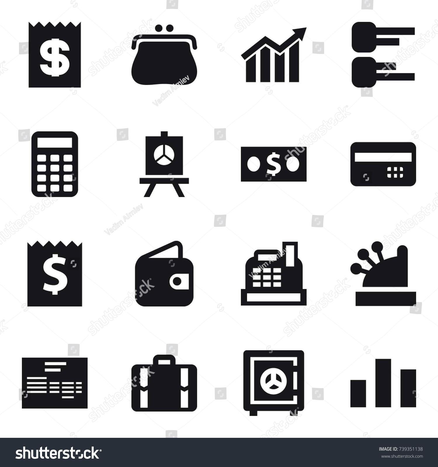 hight resolution of 16 vector icon set receipt purse diagram calculator presentation money