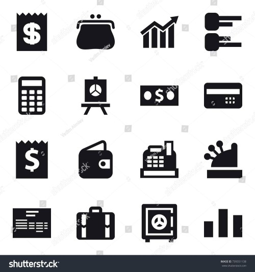 small resolution of 16 vector icon set receipt purse diagram calculator presentation money