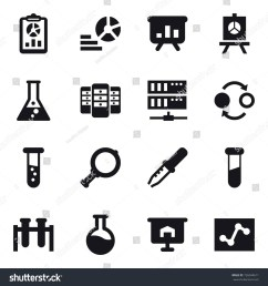 16 vector icon set report diagram presentation flask server quantum [ 1500 x 1600 Pixel ]