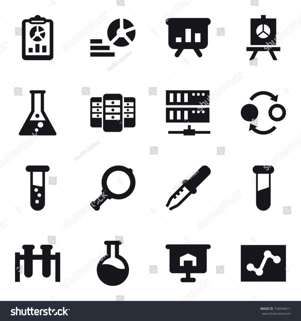 medium resolution of 16 vector icon set report diagram presentation flask server quantum