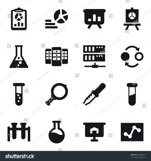 small resolution of 16 vector icon set report diagram presentation flask server quantum