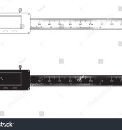 vernier caliper digital electronic tool vector isolated on white background  [ 1500 x 1101 Pixel ]