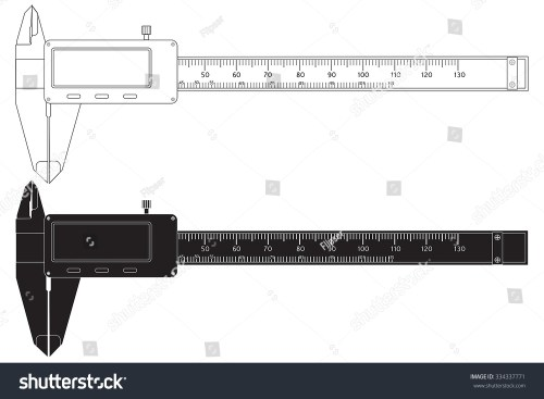 small resolution of vernier caliper digital electronic tool vector isolated on white background