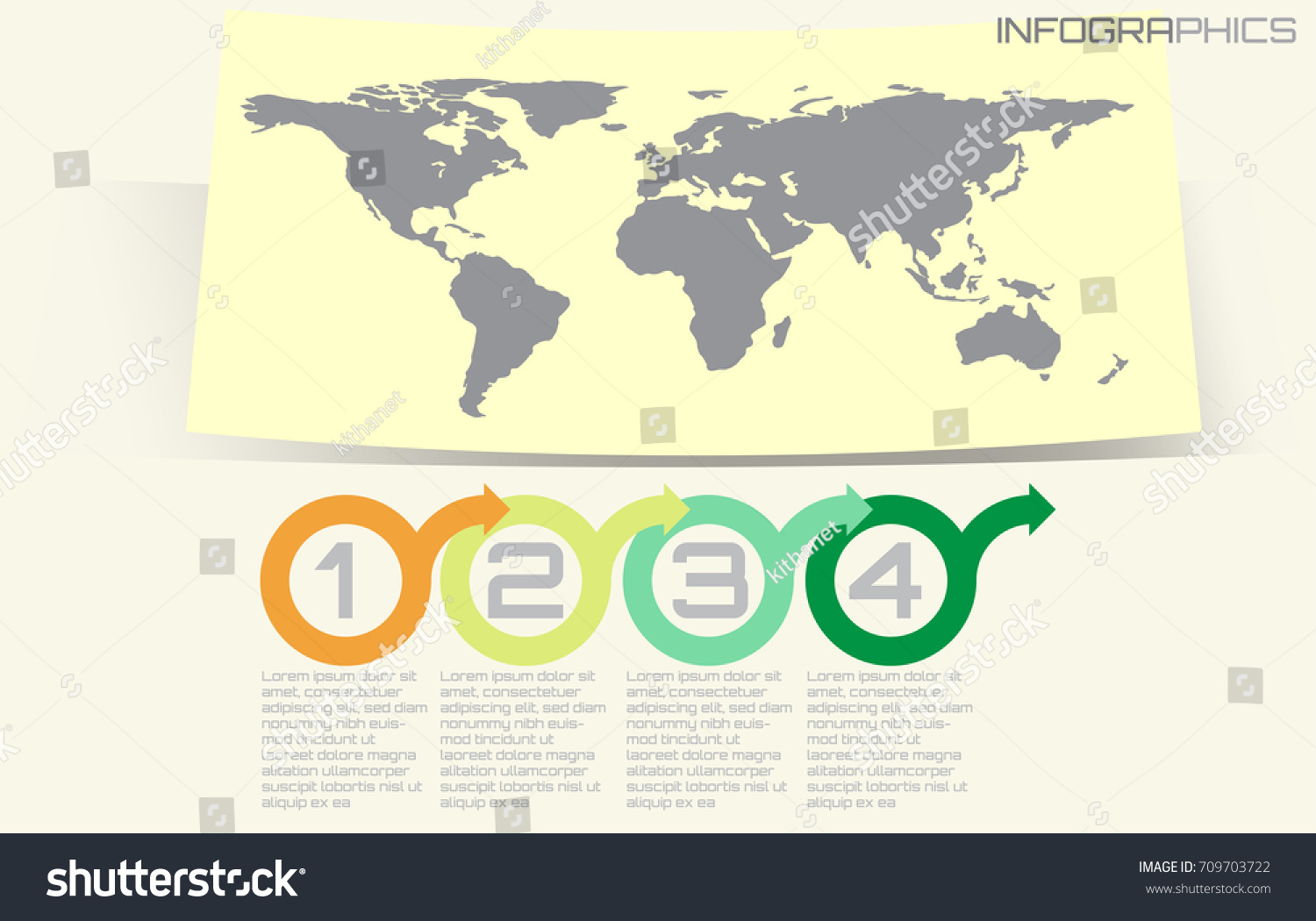 hight resolution of world map timeline vector infographics with icon options and flow diagram vector eps10 illustration