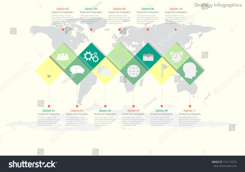 small resolution of world map timeline vector infographics with icon options and flow diagram vector eps10 illustration