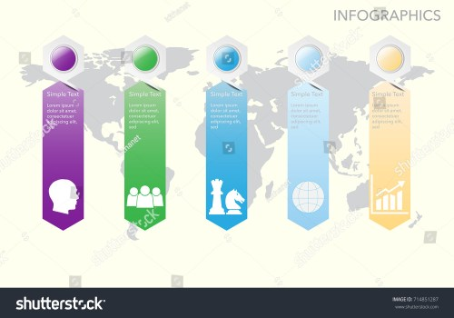 small resolution of world map vector infographics with icon options and flow diagram vector eps10 illustration