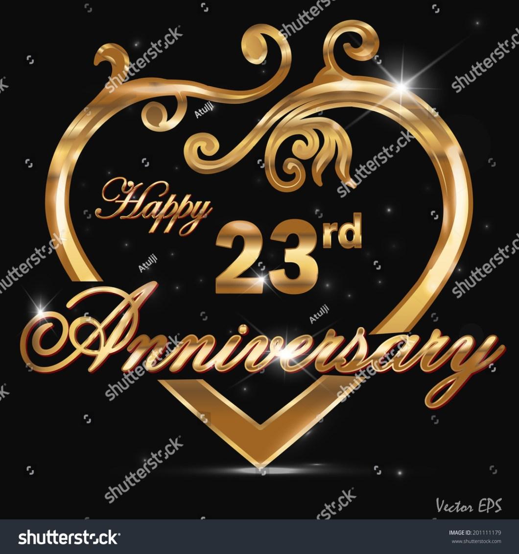 23 Year Wedding Anniversary Symbol Invitationjdi