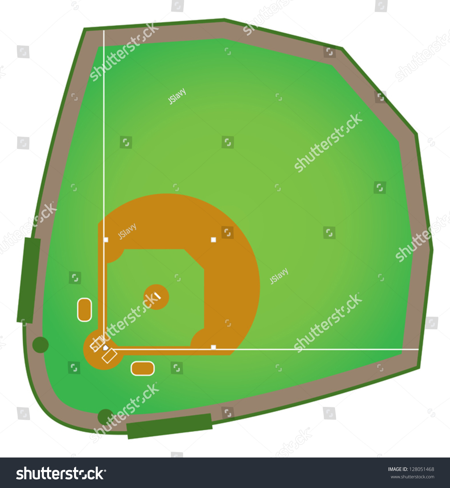 regulation baseball field diagram two gang light switch wiring realistic diamond that would be stock vector