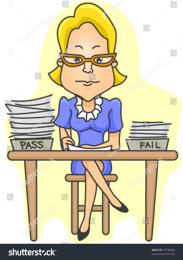 teacher checking