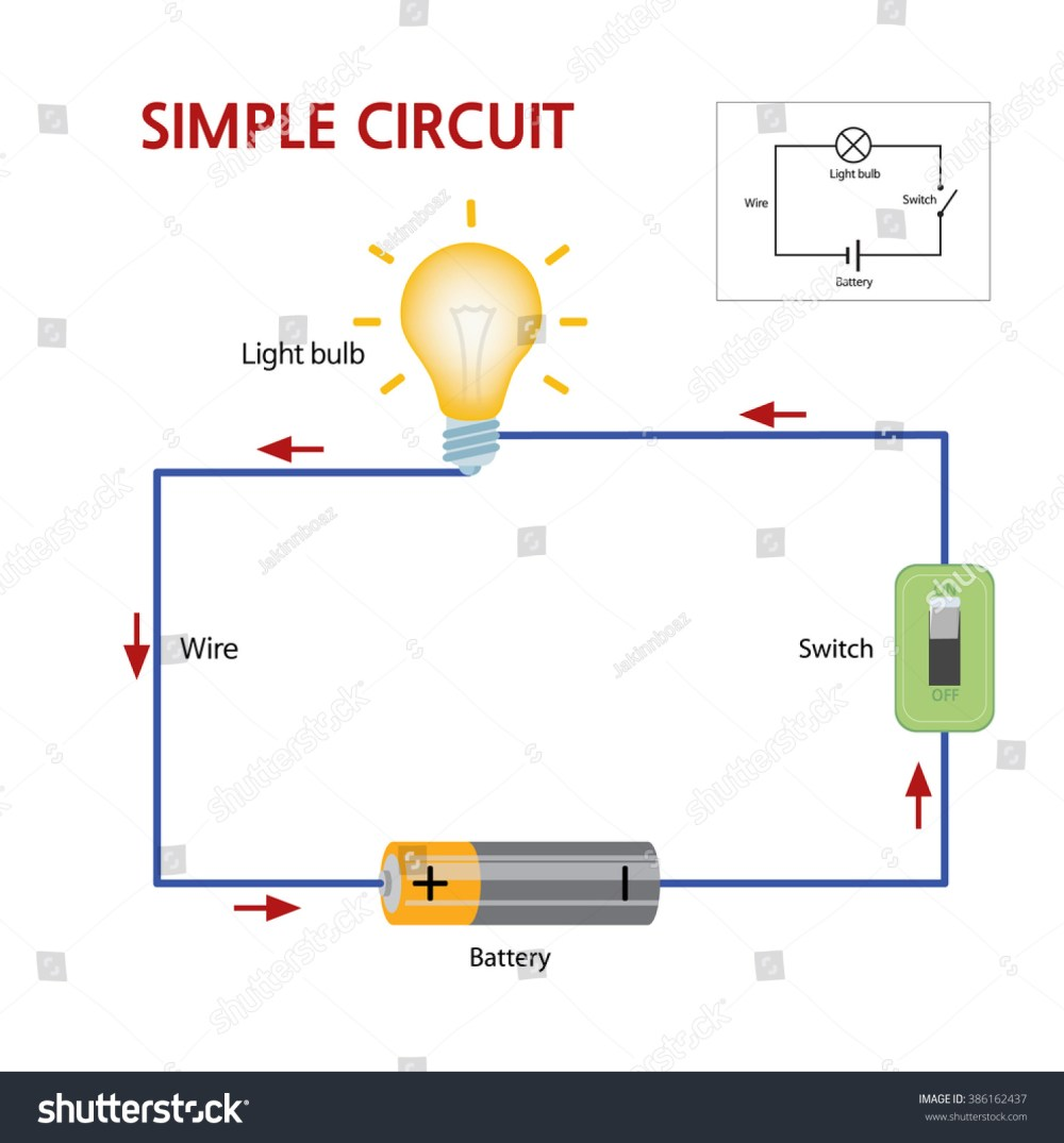 medium resolution of a simple circuit that consists of a battery switch and lightbulb