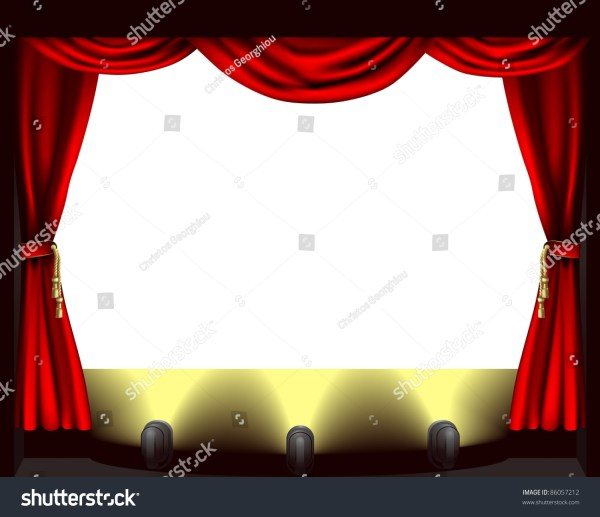 Theatre Stage Lights Clip Art
