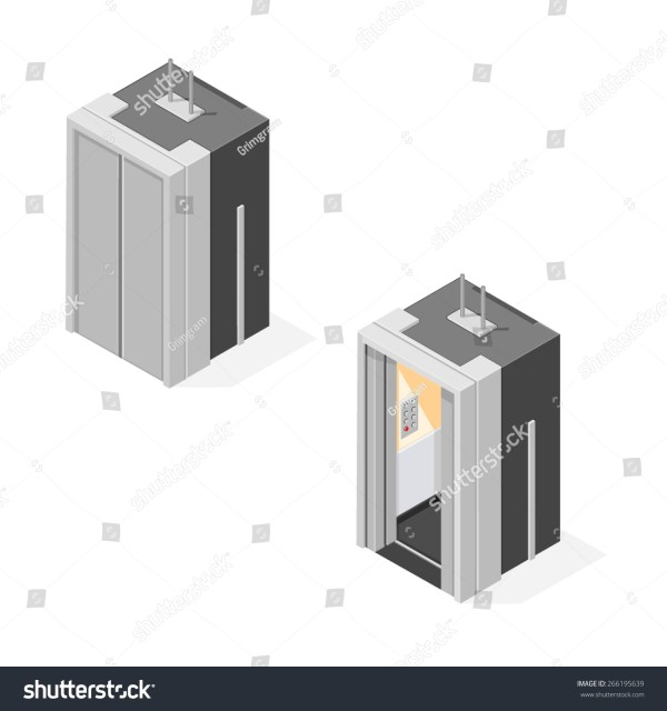 Vector Illustration Isometric Elevator