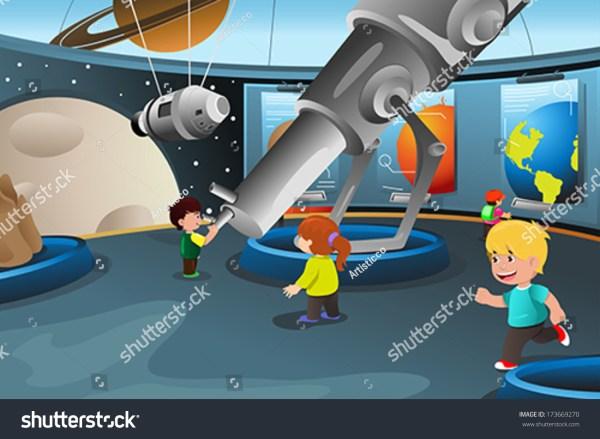 Vector Illustration Of Happy Kids Field Trip