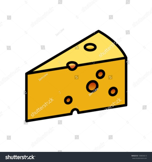Wedge Swiss Cheese Stock Vector 100854613 Shutterstock