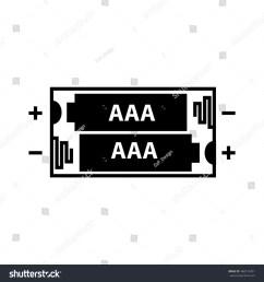 aaa battery icon vector illustration [ 1500 x 1600 Pixel ]