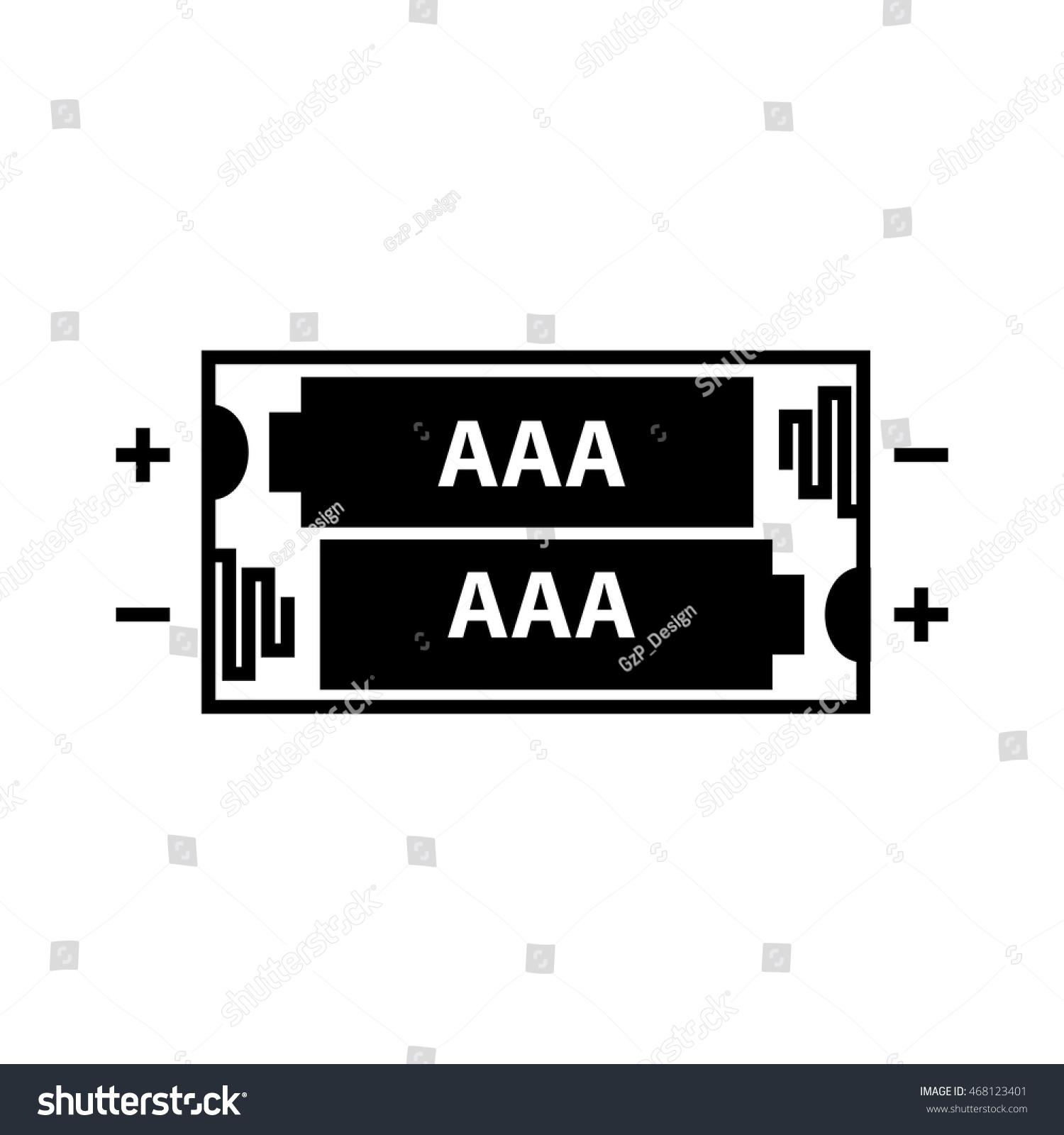 hight resolution of aaa battery icon vector illustration