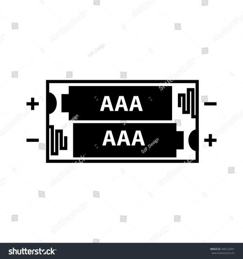 small resolution of aaa battery icon vector illustration