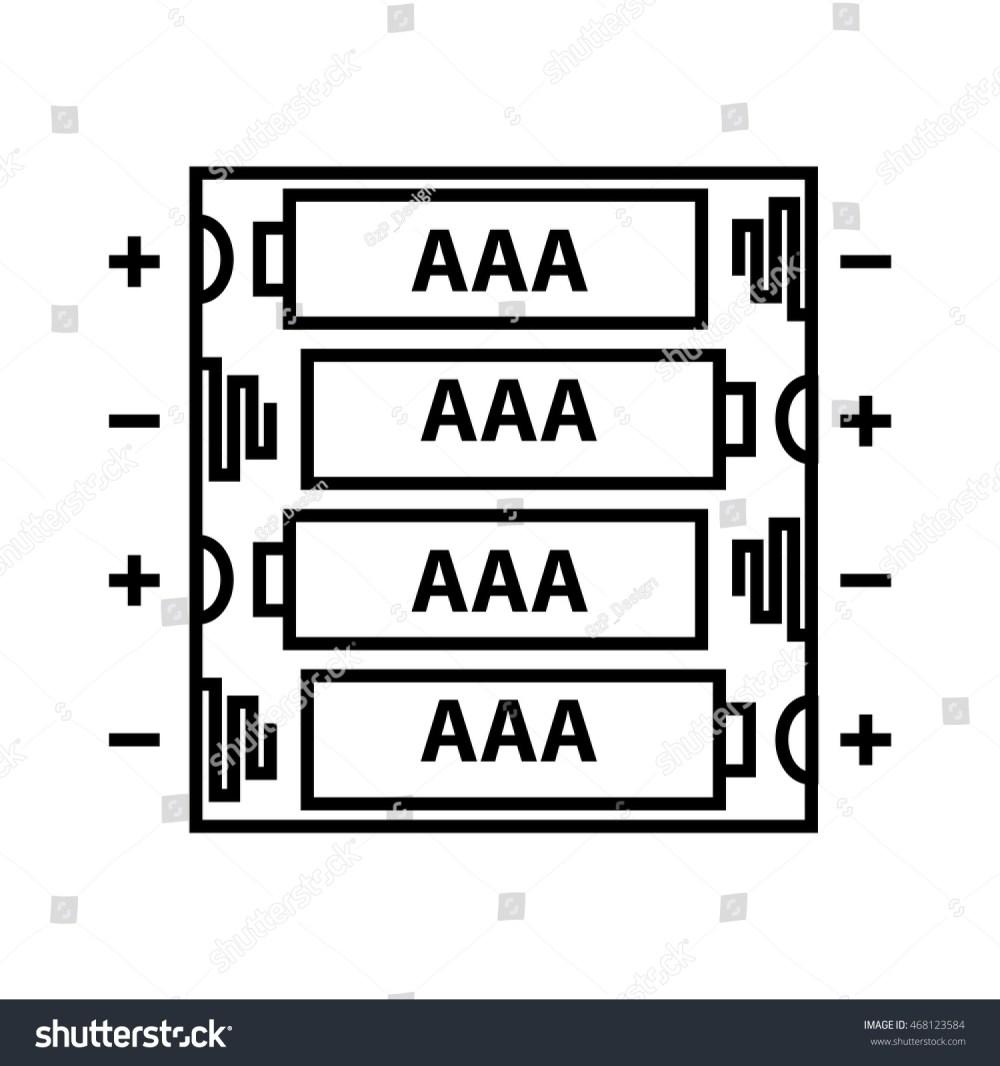 medium resolution of aaa battery icon vector illustration