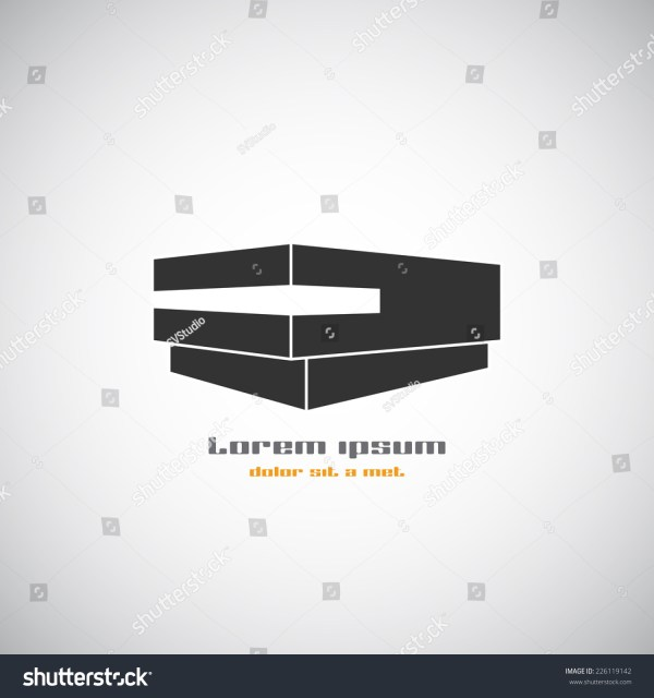 Abstract Building Silhouette. Real Estate House Logos Design Template Icon. Modern Graphic