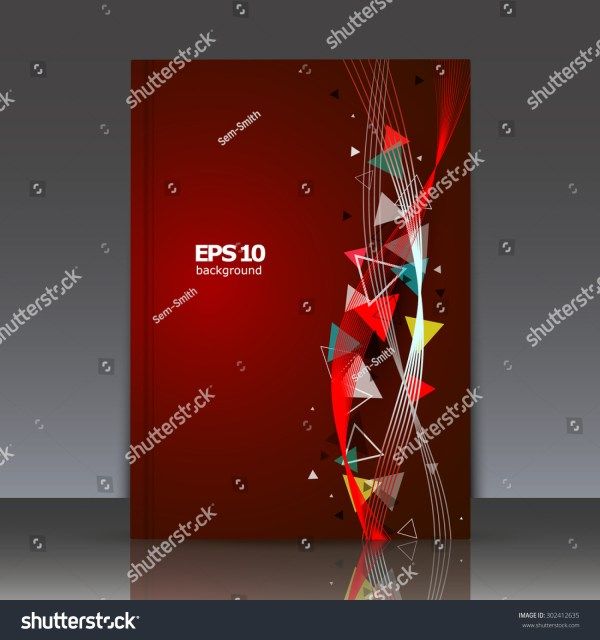 Abstract Composition Brochure Wave Background Eps10 Stock