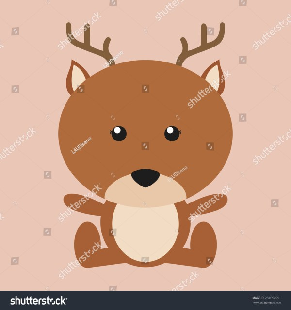 Abstract Cute Deer Pink Background Stock Vector 284054951 - Shutterstock
