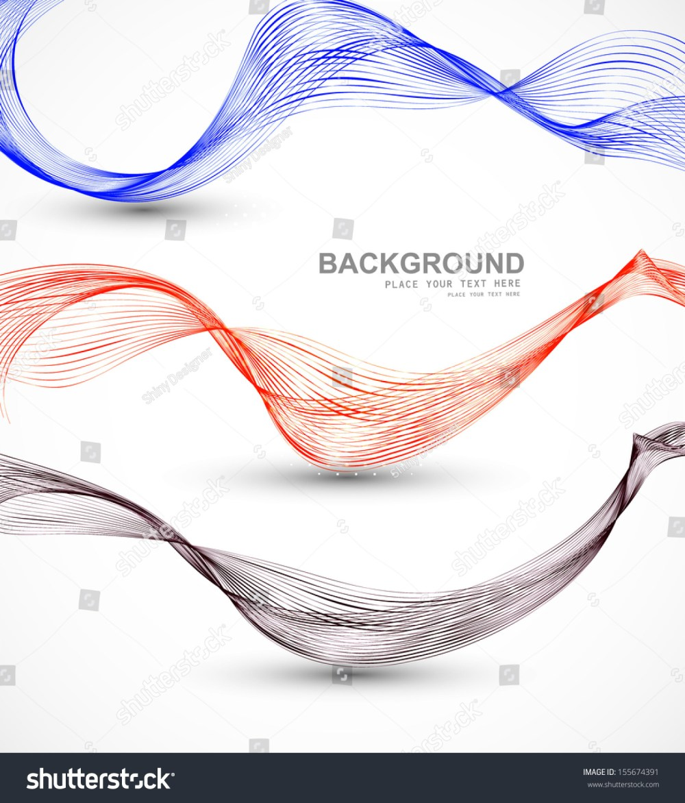 medium resolution of abstract different business line wire wave vector whit background