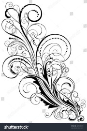 abstract floral swirl design.swirl