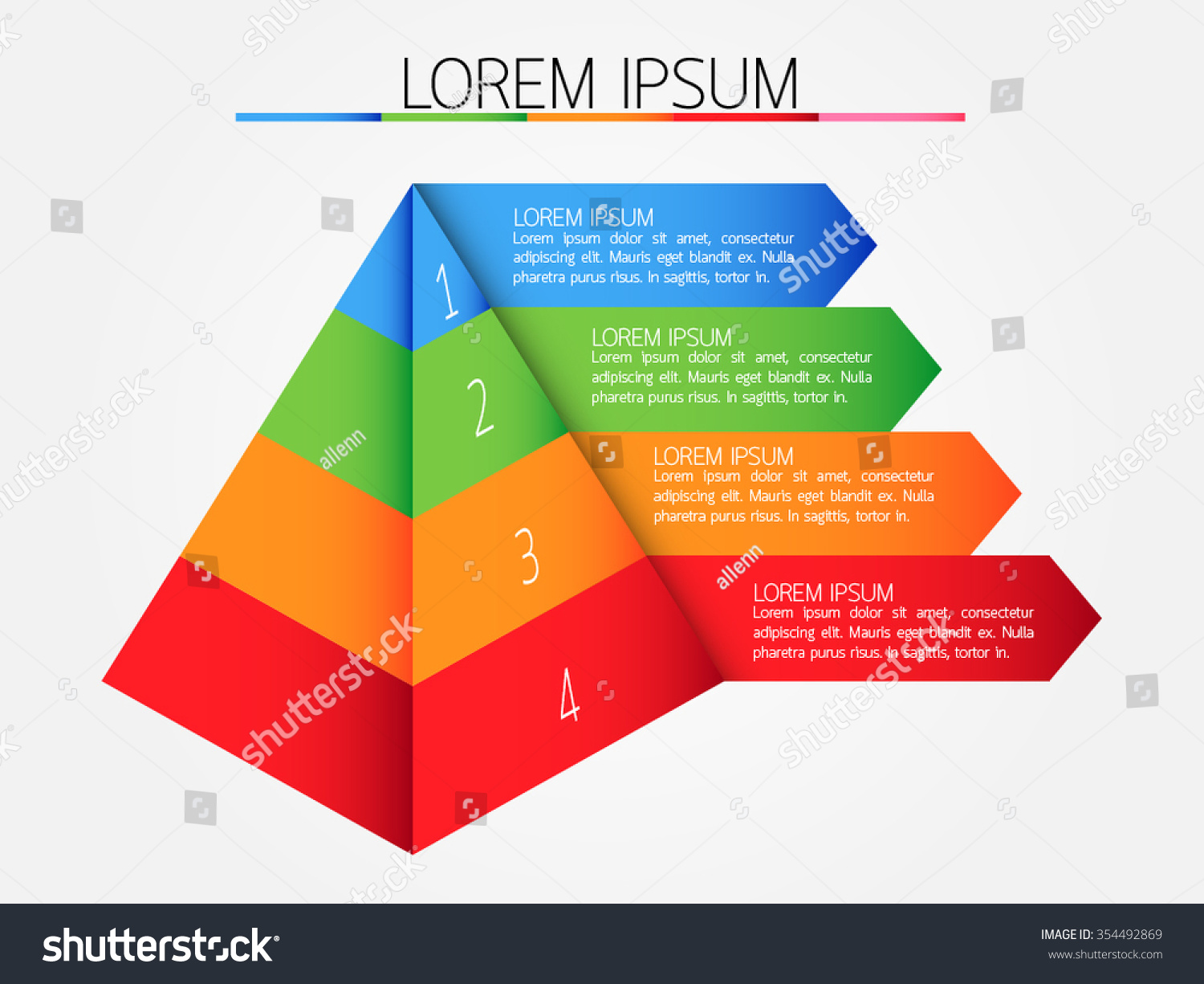 hight resolution of step of pyramid diagram