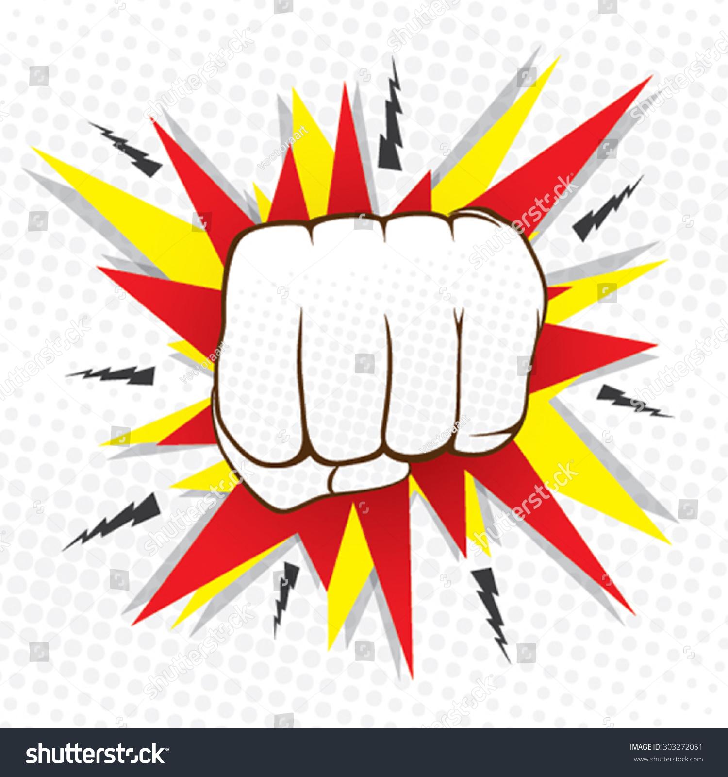 Abstract Hit Hand Punch Design Vector Vectores En Stock