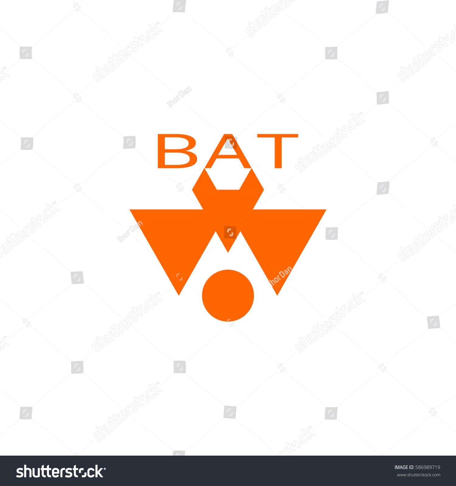 Abstract Logo Design Template. Emblem Of Bat. Vector Creative Concept Icon.