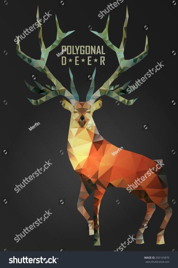 Geometric Deer Illustration