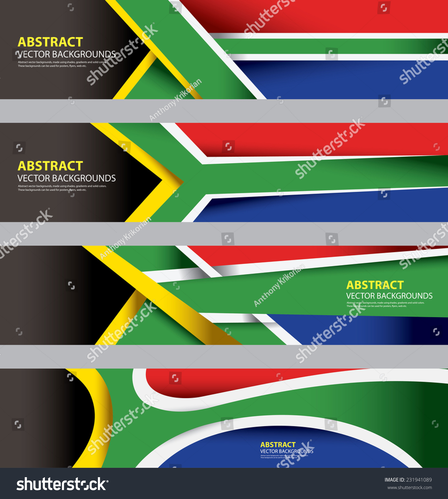 Abstract South African Flag South Africa Modern Art Info