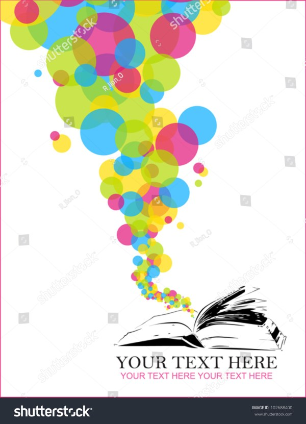 Abstract Vector Illustration Opened Book Balloons Stock