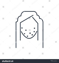 acne face icon isolated pimple and acne face icon line style premium quality vector [ 1500 x 1600 Pixel ]