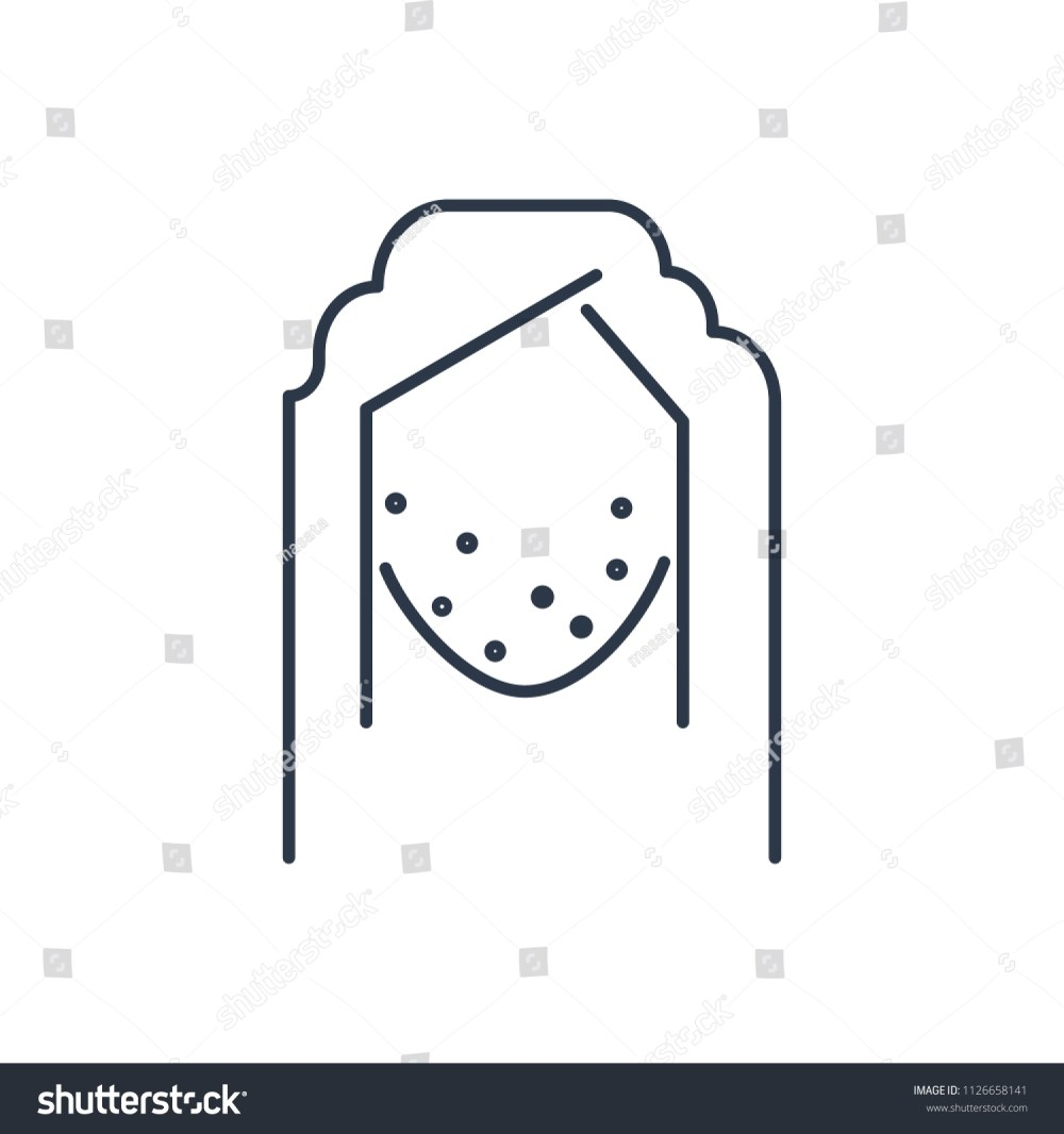 medium resolution of acne face icon isolated pimple and acne face icon line style premium quality vector