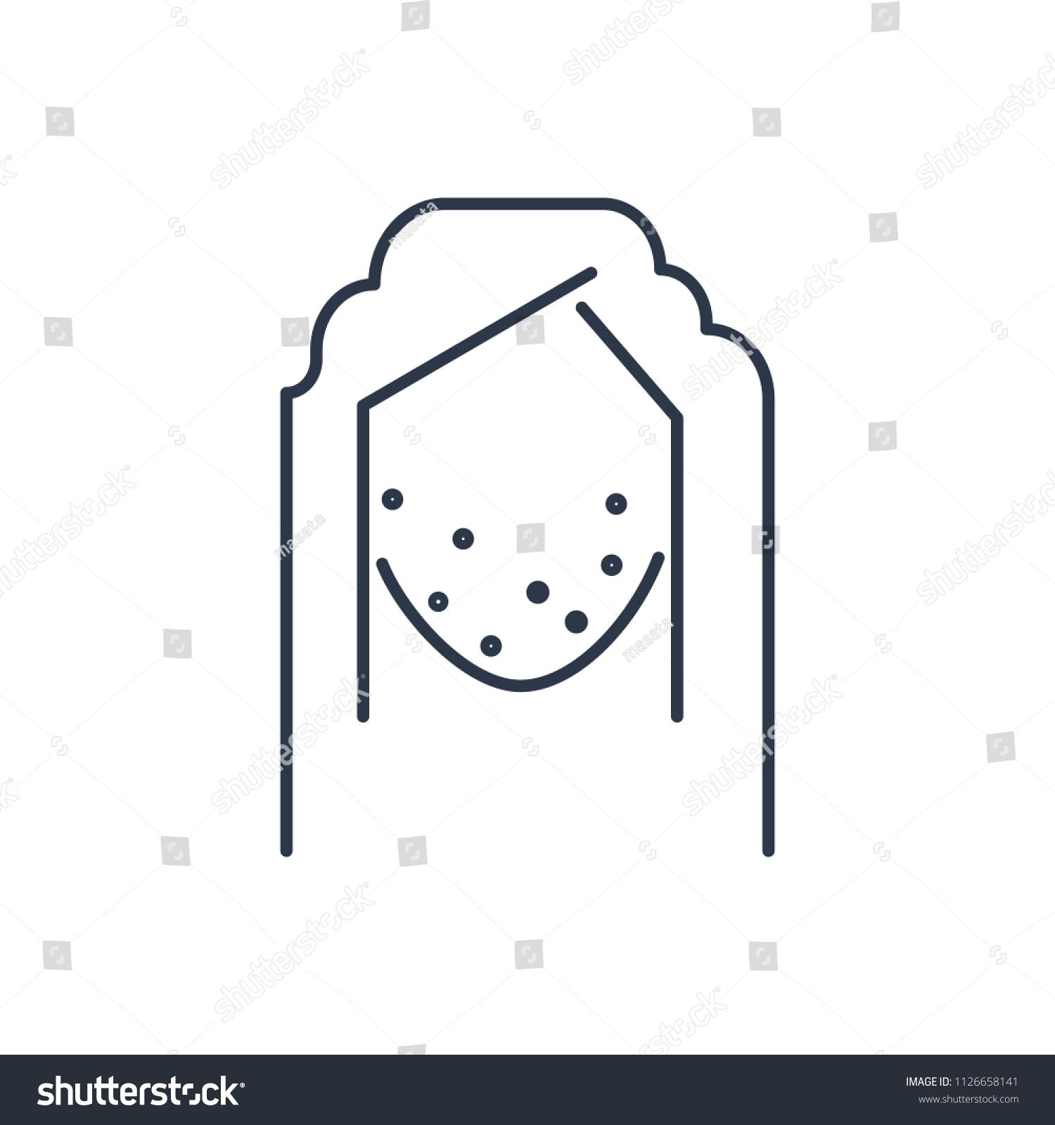 hight resolution of acne face icon isolated pimple and acne face icon line style premium quality vector
