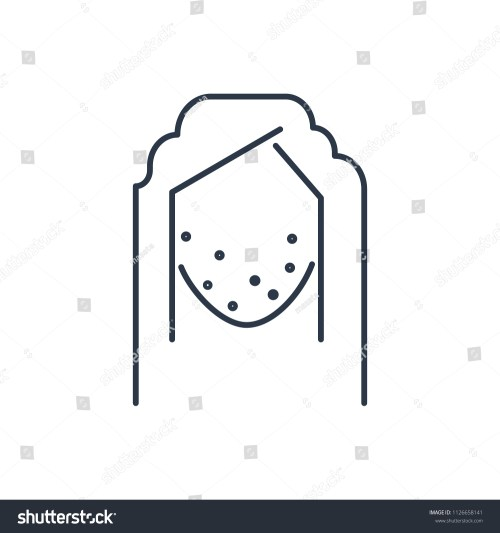 small resolution of acne face icon isolated pimple and acne face icon line style premium quality vector