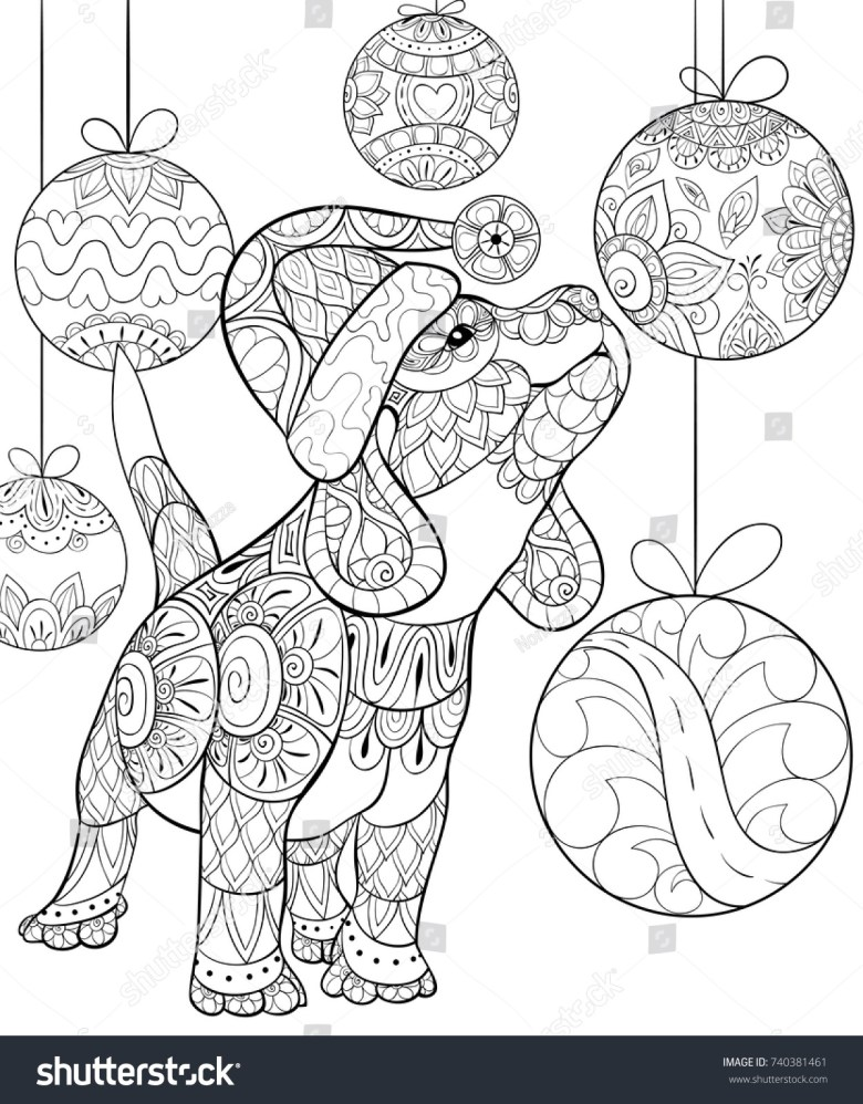 awesome cute christmas puppy coloring pages | top free printable