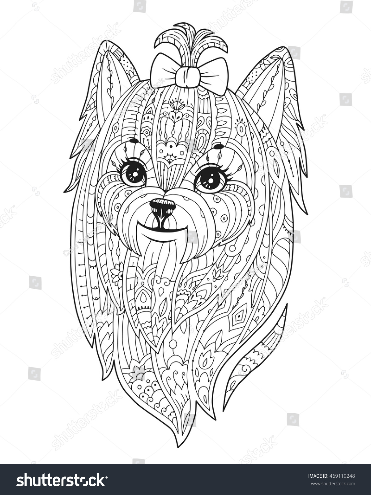 Teacup And Dog Adult Coloring Page | Printable Puppy Coloring Pages ...