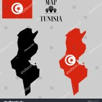 Vector De Stock Libre De Regalias Sobre African Tunisia Outline World Map Silhouette1537187954