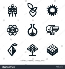 Agriculture Icon Set. Vector Graphic Elements. Logo
