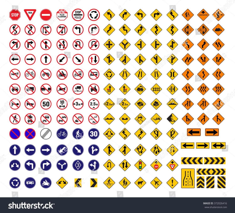 All Traffic Signs Vector Stock Vector